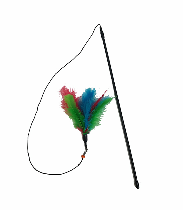 Cat teaser Wand With Feather- shop for cats
