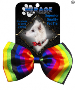 Dog Bow Tie Rainbow- classic neck and bow ties
