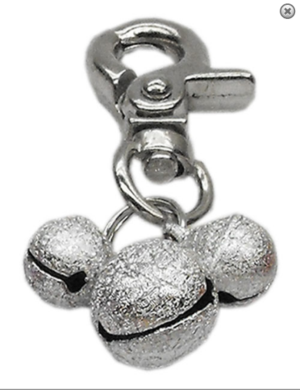 charms- Lobster Claw Bell Charm Silver