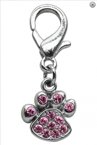 Lobster Claw Paw Charm Pink- Charms