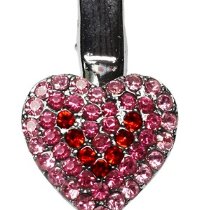 Grooming- Heart Clip Pink
